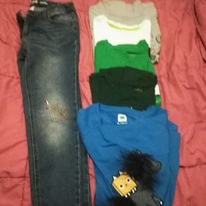 Girls shirts size14/16 and one pants size 12